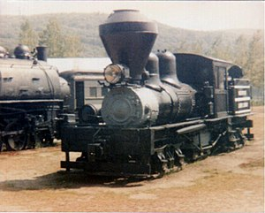 Steamtown, U.S.A. - Image: 1 MRL Co Shay at Bellows Falls VT