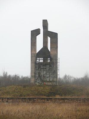 Porkhov - Unfinished obelisk to the victims of the German concentration camp near Porkhov