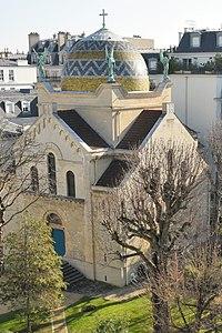 004 DSC 3217 La Chapelle des Sœurs auxiliatrices (dames auxiliatrices des âmes du purgatoire), de style néo-byzantin.jpg