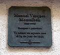 008 Aquí va néixer Manuel Vázquez Montalbán, c. Botella.jpg