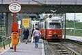 082L12210781 Bereich Reichsbrücke – Wagramerstrasse, links Abfahrt von der Ersatzbrücke für die Strassenbahn, Haltestelle Donaupark, Strassenbahn Linie 22, Typ E1 4467.jpg