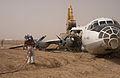 100728-N-0000M-005 crash-landed An-12BP at Camp Dwyer Afghanistan.jpg