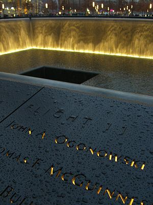 John Ogonowski - Ogonowski's name is located on Panel N-74 of the National September 11 Memorial's North Pool, along with those of other passengers of American Airlines Flight 11