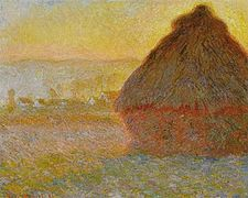 1289 Grainstack at Sunset, Meule, soleil couchant, 1891, Oil on Canvas, Museum of fine Arts, Boston, MA.JPG