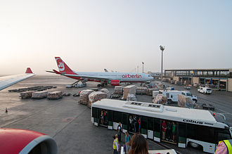 Emirate of Abu Dhabi - Sunrise at Abu Dhabi International Airport