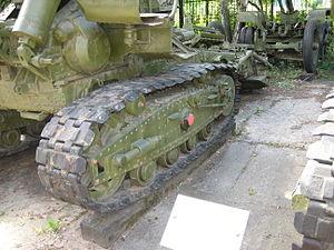 152 mm gun M1935 (Br-2) - Br-2, track.