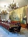 158 Casa Alegre de Sagrera (Terrassa), menjador, amb plafó mural d'Alexandre de Riquer.JPG