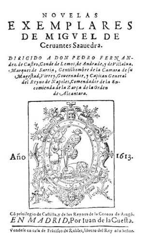 "Novelas ejemplares - 1613 edition, with the now archaic spelling ""exemplares""."