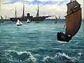1864 Manet The Kearsarge at Boulogne anagoria.JPG