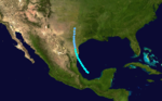 1874 Atlantic tropical storm 4 track.png