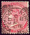 1886issue 1d carmine Jamaica Kingston SG18a.jpg