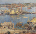 1899 Gloucester Harbor painting by Childe Hassam Norton Gallery of Art.png