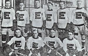 1911–12 NHA season - Eastern All Star Team in 1912. Top row, from left: Sprague Cleghorn, Hamby Shore, Art Ross, Skene Ronan, Paddy Moran, Odie Cleghorn. Front row, from left: Jack McDonald, Cyclone Taylor, Jack Darragh, Joe Malone.