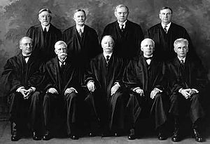 The U.S. Supreme Court in 1925. Taft is seated...