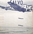 """1943 """"SALVO"""" class book with Bomber 336 in action cover art detail, from- Big Spring Army Airfield - Post Pictorial Book (page 1 crop).jpg"""