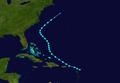 1943 Atlantic tropical storm 2 track.png