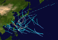 1945 Pacific typhoon season summary.png