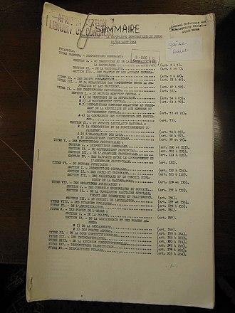 Republic of the Congo (Léopoldville) - 1964 Constitution de la République démocratique du Congo