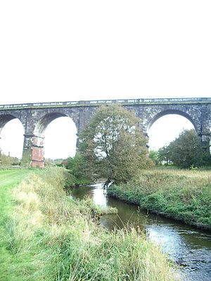 Newton-le-Willows - Sankey Viaduct crossing Sankey Brook