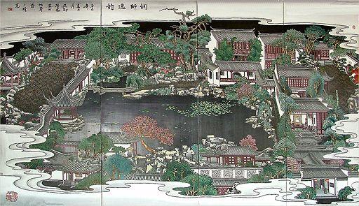 2004 0927-Suzhou MasterOfNetGarden PaintedMap
