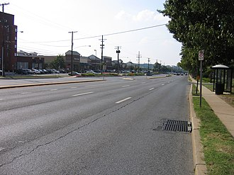 Maryland Route 355 - MD 355 at Bouic Avenue in Rockville.