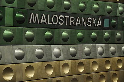 How to get to Malostranská with public transit - About the place