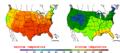 2011-06-06 Color Max-min Temperature Map NOAA.png