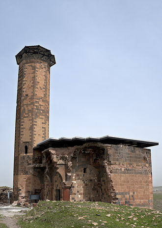 Shaddadids - The ruins of Manuchihr Mosque, an 11th-century Shaddadid mosque built among the ruins of Ani