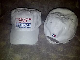Martin Luther King Jr. Memorial - Hats given to attendees at the dedication ceremony