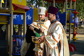 Religion in Ukraine - Orthodox priest in Donetsk