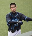 20120310 Taketosi Goto,infielder of the Yokohama BayStars, at Seibu Dome.JPG