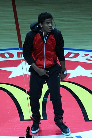 2013 McDonald's All-American Boys Game - Trevor Jackson, halftime entertainer