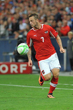 Marko Arnautović - Arnautović playing for Austria in August 2013