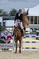 2013 Longines Global Champions - Lausanne - 14-09-2013 - Roger Yves Bost et Colombo van den Blauwaert 1.jpg