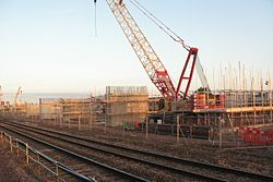 2013 at Reading Viaduct - casting the piers.JPG
