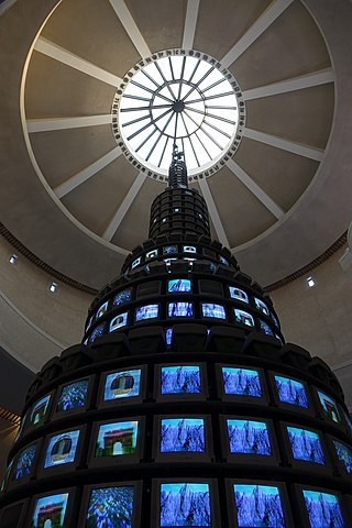 Nam June Paik's video tower multiplex - Wikimedia