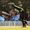 हरमन प्रीत कौर बल्लेबाजी करते हुए।
