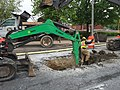 2016-05-11 10 00 09 Road crews digging in North Avenue (U.S. Route 1) near Aisquith Street in Baltimore City, Maryland.jpg