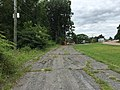 2017-08-06 11 43 39 View west along Maryland State Route 827 at Maryland State Route 39 (Hutton Road) in Crellin, Garrett County, Maryland.jpg