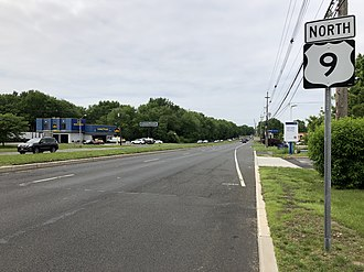 Manalapan Township, New Jersey - US 9, the largest and busiest road in Manalapan Township