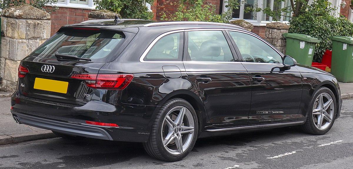 File:2018 Audi A4 Avant S Line TDi S-A 2.0 Rear.jpg - Wikimedia Commons