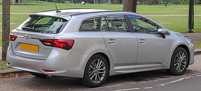 2018 Toyota Avensis Business Edition Valvematic facelift Estate 1.8 Rear.jpg