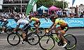 2018 Women's Tour stage 3 - Leamington finish 073 Georgia Williams 083 Janneke Ensing 086 Soraya Paladin.JPG