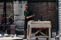 2019-07-02 Masons at work on Hereford cathedral, long after it was built 01.jpg