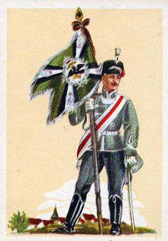 "11th Hussar Regiment (Germany) - The banner of the ""Tanzhusaren"", 1906"