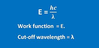 Photoelectric effect - Work function and cut off frequency