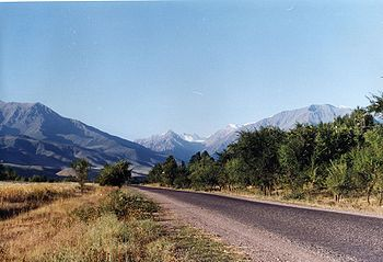 View of Ala Archa outside Bishkek