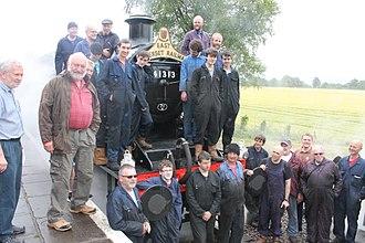 East Somerset Railway - Image: 41313 launch