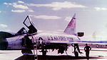 431st Fighter-Interceptor Squadron Convair F-102 Delta Dagger 56-1006 - at Wheelus - WC.jpg