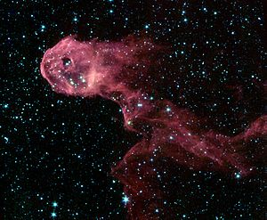 Elephant's Trunk nebula - Spitzer Space Telescope photo of the nebula